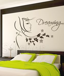 Sticker για τοίχους - Dreaming... - Διακοσμητικά αυτοκόλλητα τοίχου