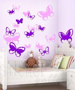Αυτοκόλλητο τοίχου Πεταλουδίτσες Ι