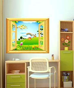 Αυτοκόλλητο τοίχου - Παράθυρο με Θέα - παιδικά αυτοκόλλητα