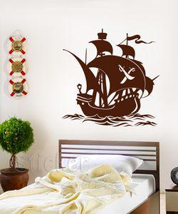 Παιδικά αυτοκόλλητα τοίχου - Πειρατικό Καράβι