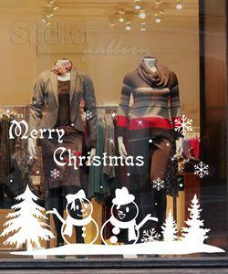 Χριστουγεννιάτικο Αυτοκόλλητο Χιονάνθρωποι και νιφάδες
