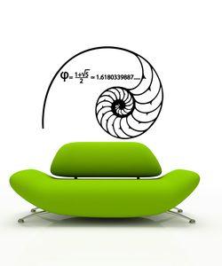 Fibonacci spiral sticker