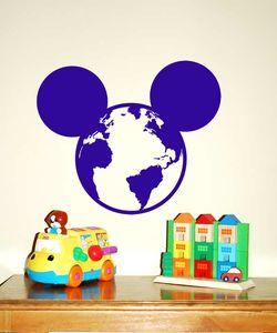 Mickey Mouse World αυτοκόλλητο τοίχου