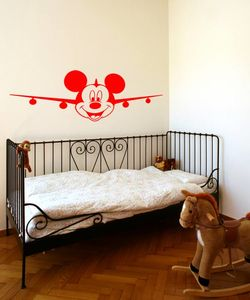 Mickey Mouse airplane αυτοκόλλητο τοίχου