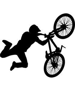 αυτοκόλλητο τοίχου bmx ποδήλατο