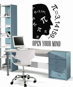 wall stickers math Open your mind