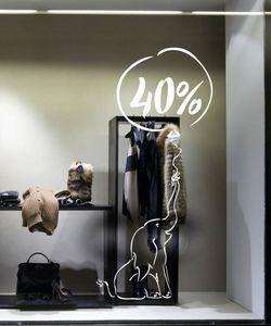 Αυτοκόλλητα εκπτώσεων Sales για βιτρίνες καταστημάτων