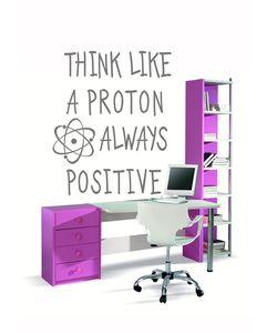 Think like proton αυτοκολλητο τοιχου για φροντιστήρια