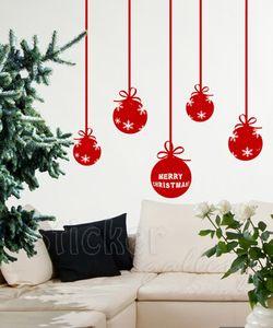 Αυτοκόλλητο τοίχου Χριστουγεννιάτικες μπάλες
