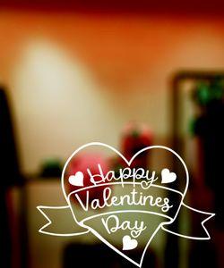Αυτοκόλλητα βιτρινας  Αγιου Βαλεντινου-valentines day stickers