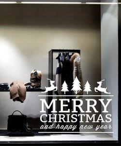 Merry Christmas 011. Αυτοκόλλητο βιτρίνας