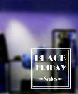 Αυτοκόλλητα  βιτρίνας Black Friday