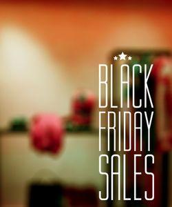 Αυτοκόλλητα  βιτρίνας για Black Friday