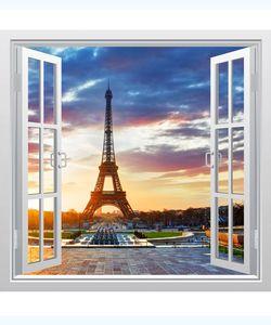 αυτοκόλλητο παράθυρο με θέα στο Παρίσι