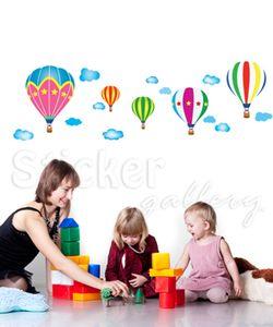Αυτοκόλλητο τοίχου Πολύχρωμα Αερόστατα