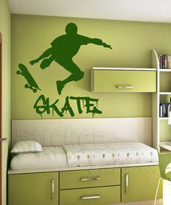 Αυτοκόλλητα τοίχου Skateboard