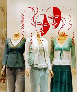 Αποκριάτικη διακόσμηση βιτρίνας & τοίχου - Carnival 01