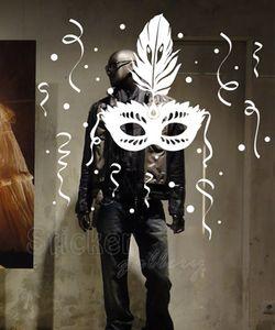Αποκριάτικα αυτοκόλλητα για διακόσμηση βιτρίνας & τοίχου - Carnival 02