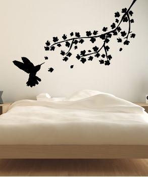 αυτοκόλλητα τοιχου με πουλακι