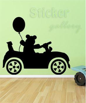 Αυτοκόλλητο Αυτοκινητάκι με αρκουδάκι