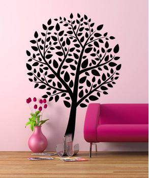 Αυτοκόλλητο Δέντρο με φύλλα oval