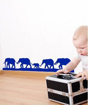 Αυτοκόλλητο Κοπάδι από Ελέφαντες