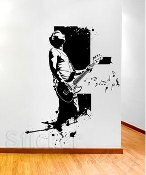 Αυτοκόλλητο τοίχου Κιθαρίστας