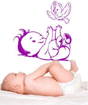 Αυτοκόλλητο τοίχου Παιχνιδιάρικο μωρό