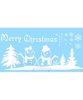 Christmas Snowmen - λεπτομέρεια αυτοκόλλητου σχεδίου