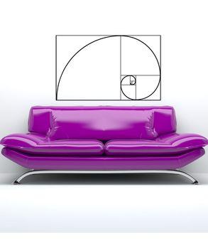 Fibonacci spiral αυτοκόλλητο τοίχου