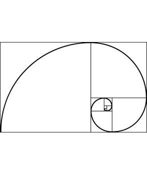 Fibonacci spiral wall sticker