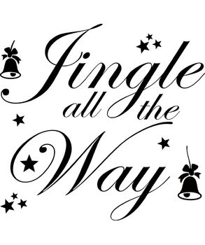 Jingle All the way shop window decals