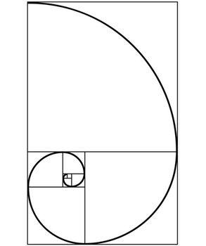 Κάθετη τοποθέτηση Fibonacci spiral golden ratio wall sticker