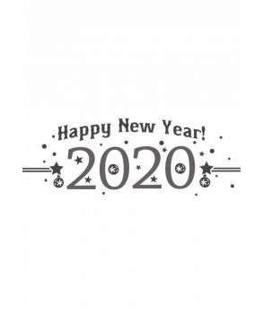Happy New Year Sticker - λεπτομέρεια σχεδίου