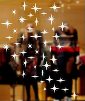 Χριστουγεννιάτικα αστέρια σε αυτοκόλλητα