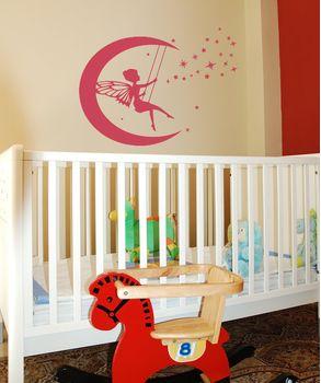 Νεραιδούλα 03 ένα αυτοκόλλητο τοιχου για το βρεφικό και παιδικό δωμάτιο