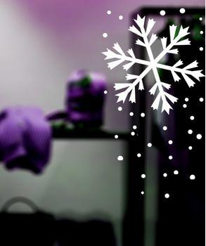 Χριστουγεννιάτικες νιφάδες αυτοκολλητα για βιτρινα