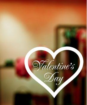 Αυτοκόλλητα βιτρινας  Αγιου Βαλεντινου-valentines day decals