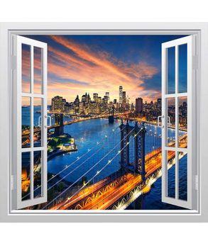 αυτοκόλλητο παράθυρο με θέα στο Golden gate bridge
