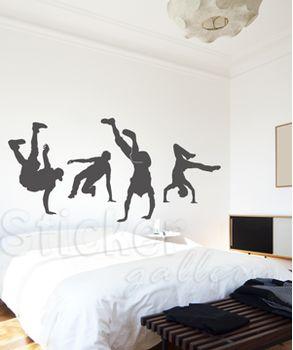 Αυτοκόλλητο τοίχου  break dance