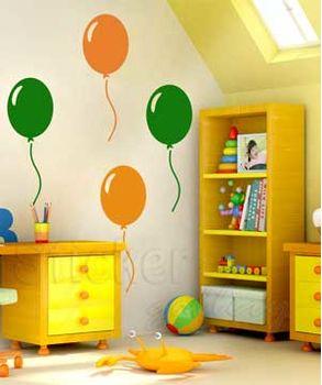 αυτοκολλητα τοιχου παιδικα-μπαλονια