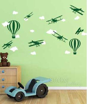 αυτοκολλητα τοιχου αεροπλανακια