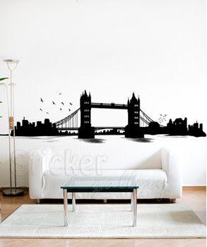 Γέφυρα Λονδίνου - αυτοκόλλητο τοίχου