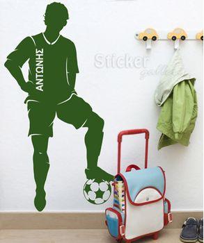 Aυτοκολλητο τοιχου ποδοσφαιρο