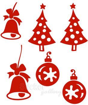Σετ με 6 Χριστουγεννιάτικα Στολίδια