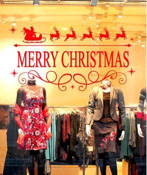 Διακόσμηση βιτρίνας - Merry Christmas 08