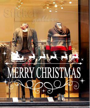 Χριστουγεννιάτικη διακόσμηση βιτρίνας - Merry Christmas 08
